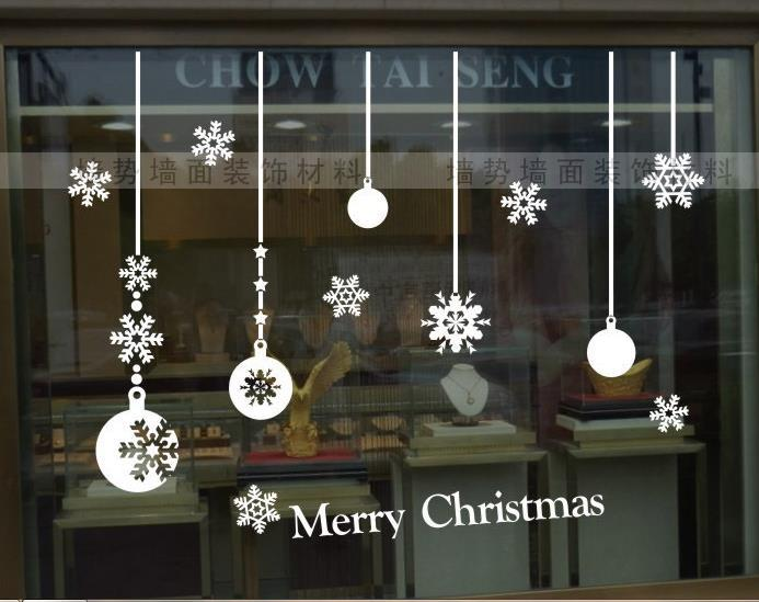 Merry christmas beautiful white snowflake string balls for Salon xmas decorations