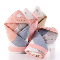 Baby Blanket Quilt Envelopes For Newborn Thick Warm Cotton Baby Swaddle Sack Stitching Embroidered 90×90Cm Newborn Blankets