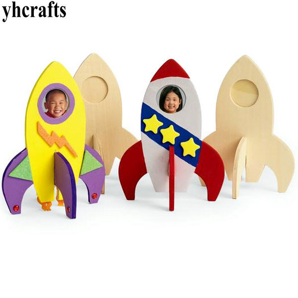 Paint Unfinished Wood Rocket Wood Toys Drawing Toysfamily Fun