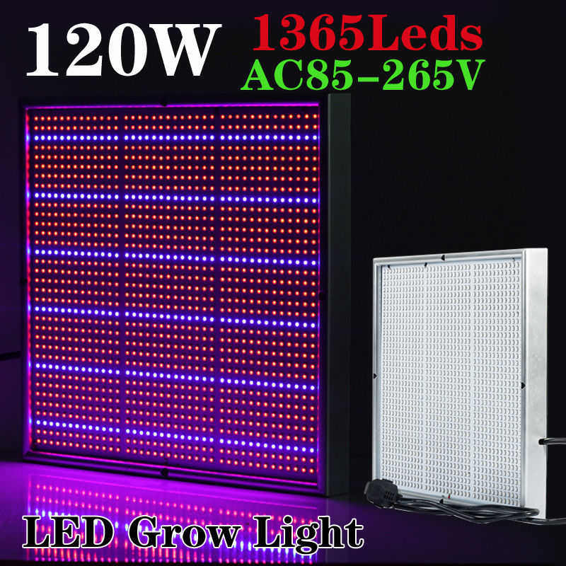 1365 LED 120W Grow Light Panel Plants Blue Red Lamp Indoor Hydroponic Vegetable Fruit Greenhouse Plants Flower Grow Light