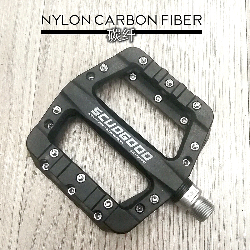 SCUDGOOD Bicycle Pedals Nylon Fiber Ultra-light Mountain Bike Pedal 5 Colors Big Foot Road Bike Bearing Pedals Cycling Parts wosawe new mountain bike bicycle pedal aluminum alloy big foot road bike bearing pedals bicycle bike parts 2 colors