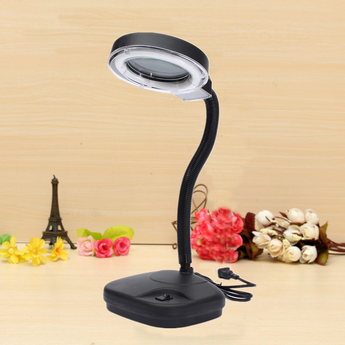 Desk Light LED Magnifying Lens Glass Book Night Light Magnifier Desk Table Lamp for Students Officers Watch Worker high quality magnifying glass led light lamp desk magnifying led table light magnifier jdh99