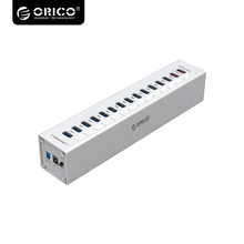 ORICO Aluminum USB three.zero Tremendous Velocity With 5V2.4A/5V1A Charger 13 Port Multi operate USB three.zero HUB USB Splitter – Silver A3H13P2-SV