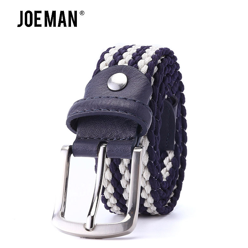 2018 Fashion Knitted Elastic BeltStong Stretch Fabric Belt For Men Elastic Casual Belt Waistband Braided Style