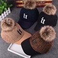 Inverno tampão Da Forma das mulheres de beisebol bonito quentes chapéus hip hop snapback Hairball caps chapéus para mulheres chapéu feminino chapéus Novidade para as mulheres