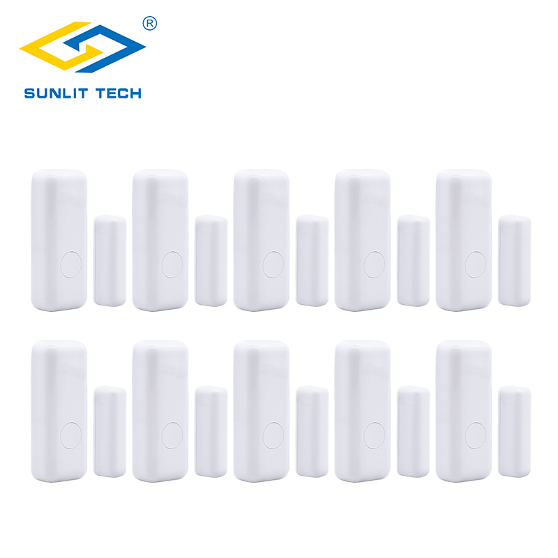 2/6/10pcs Lot Wireless Door Window Magnet Sensor Detector for 433MHz WIFI GSM Burglar Security Alarm Systems Door Open Detector