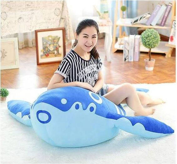 huge creative plush Kun carp toy dark blue fish doll gift about 160cm the huge lovely hippo toy plush doll cartoon hippo doll gift toy about 160cm pink