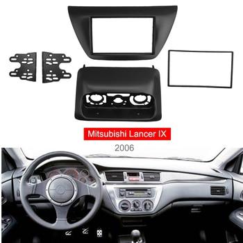 Double Din Radio Panel for 2006 Mitsubishi Lancer IX Aftermarkets Stereo Dash Kit DVD Frame+Center AC Control Fascia