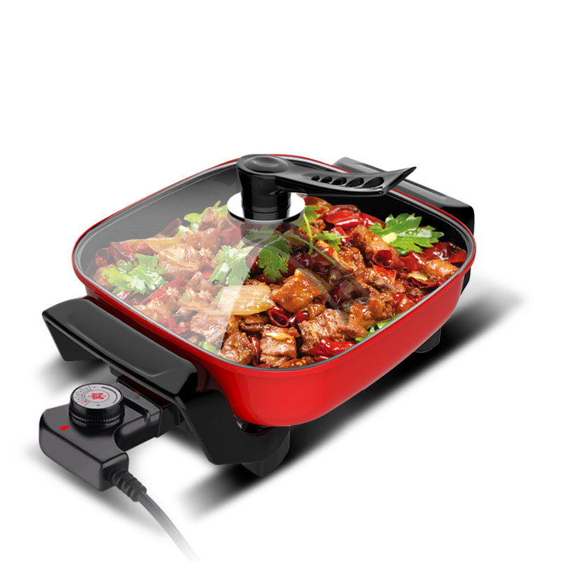 Multi-Functional 5L/ 7L Electric Skillet and Electric Baking Pan with Anti-Scalding Handle and Glass Cover