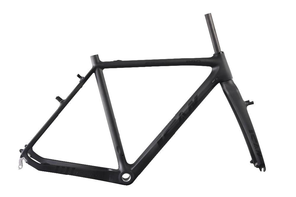 ICANBikes AC058 nouveau cadre de cyclocross compatible avec les freins cantilever ud-matte english bb