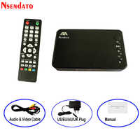 Mini Full HD Media multimedia Player Autoplay 1080P USB External HDD SD U Disk Media Player With HDMI VGA AV Output FOR MKV RMVB
