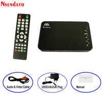 Mini Lettore Multimediale Full HD multimedia Autoplay 1080P USB Esterno HDD Media Player Per SD U Disk HDMI VGA uscita AV PER MKV RMVB