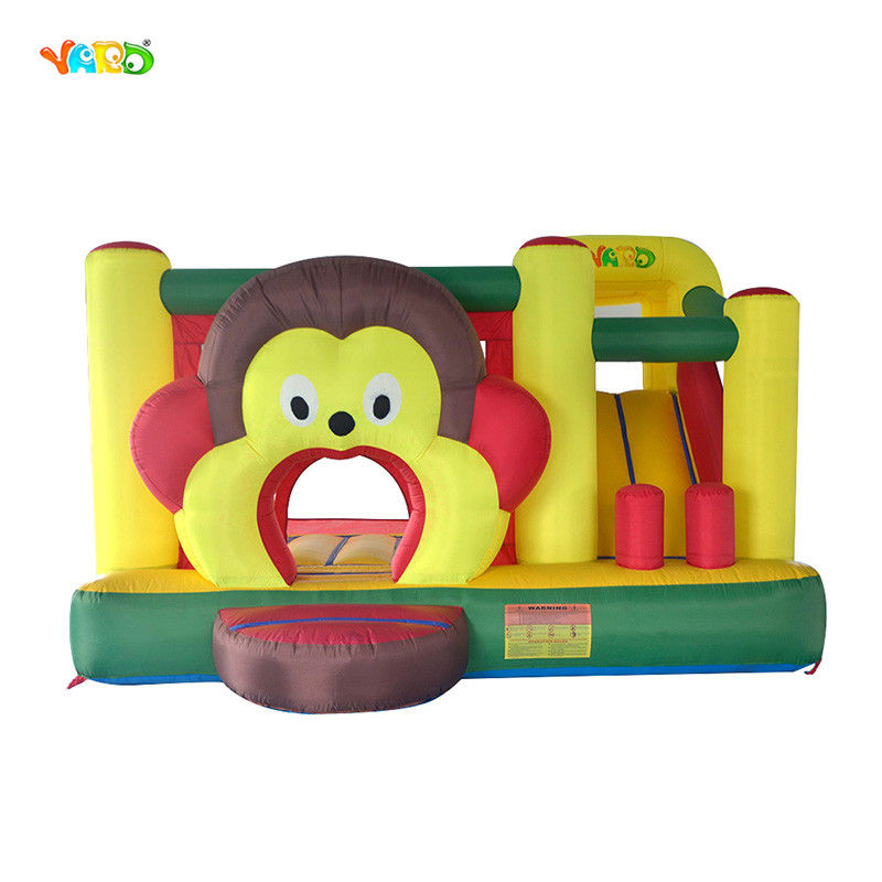 DHL FREE Shipping Monkey Bounce House ,Home use inflatable trampoline Best Value Inflatable Bouncer