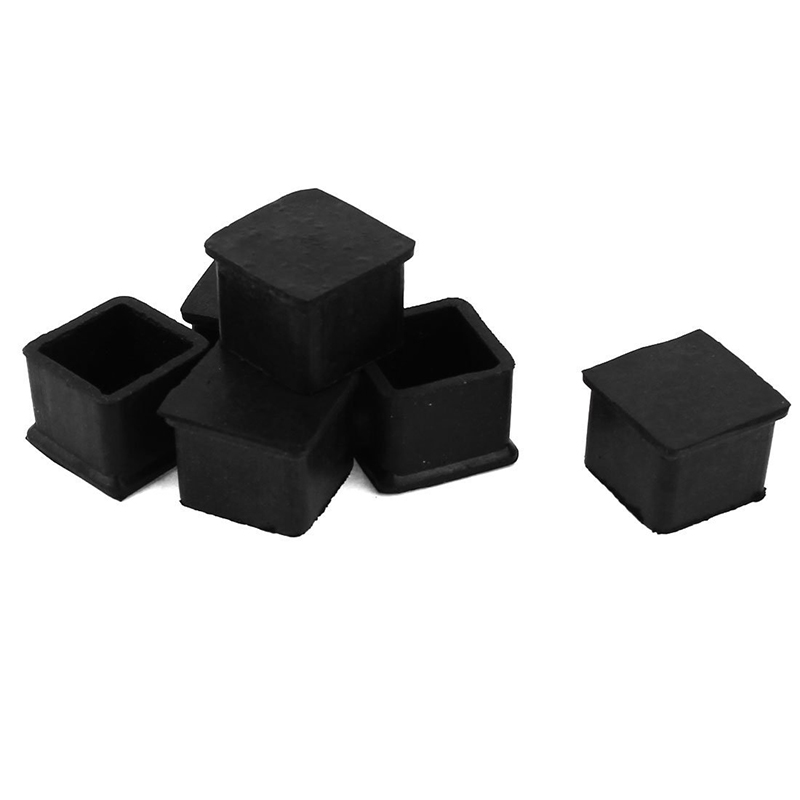 Rubber End Caps Furniture Foot / Floor Protector, 25 Mm X 25 Mm, 6 Pieces