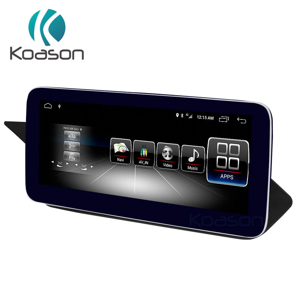 Koason 10.25 IPS LCD Monitor Touch Screen Android8.1 Car GPS Multimedia Player for Mercedes BENZ E class RHD Couple 2010 2012