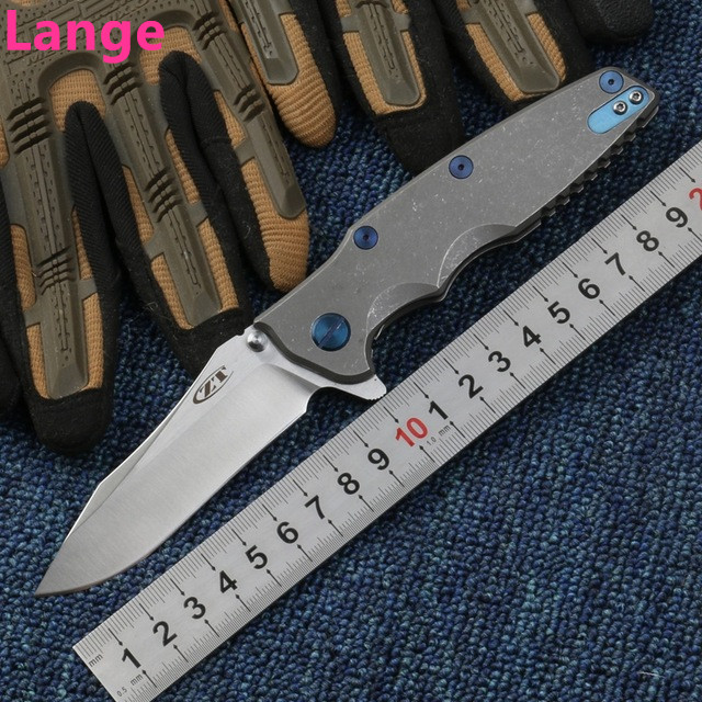 Lange ZT0392 Folding Knife S35VN Blade Titanium Handle Ball Bearing Tactical Camping Knife Outdoor Survival OEM