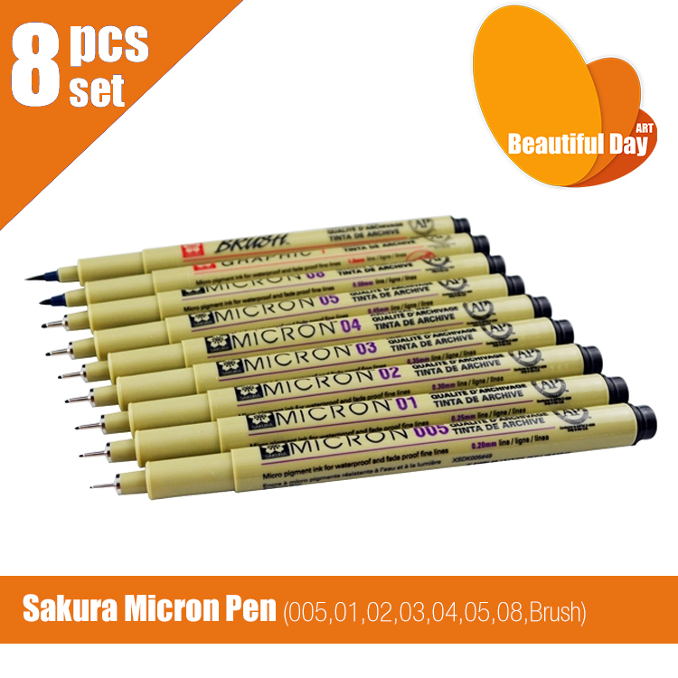 Pigma Micron 01 02 03 04 05 08 10 Stifte linie