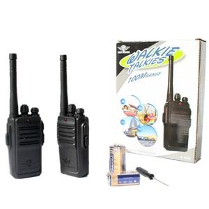 Image 5 - 2Pcs Children Toy Walkie Talkie Portable Radio Electronic Intercom  Kids Interphone Juguete Mini Woki Toki Handle Two Way Radio
