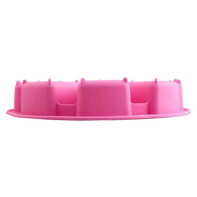Cake Mold Shaping Bakeware Cakes Pan Ice Tray Muffin Silicone Pizza Baking Tools Sugarcraft Non-stick Random Color