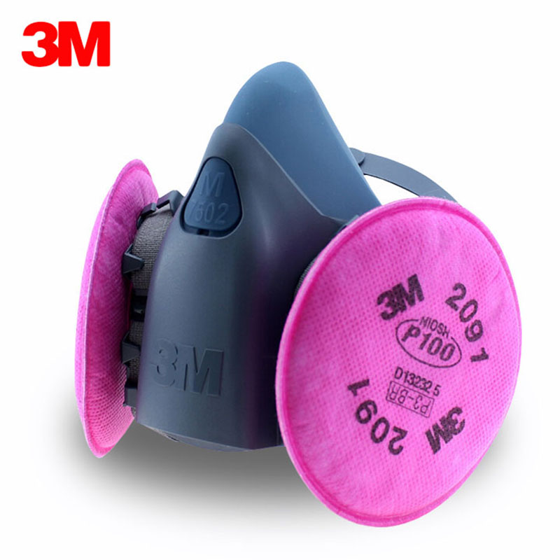3M 7502 Mask+2091CN Filter cotton High efficiency Anti Industrial Construction Dust Pollen Haze Safety Protect Mask Respirator 3m 7502 dust mask 2091 high efficiency filter cotton anti industrial conatruction dust pollen haze safety protective mask