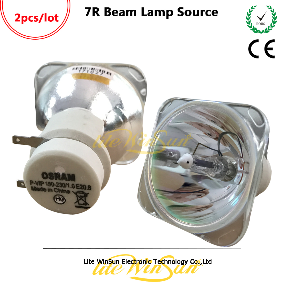 Litewinsune 2pcs Free Ship 7R 230W Beam Moving Head Light Lamp Source P-VIP 180 230 E20.6 vip hri sirius 230 7r mercury bulb lamp stage beam lamp bulbs p vip 180 230w 1 0 e20 6 for dj theater concert lighting