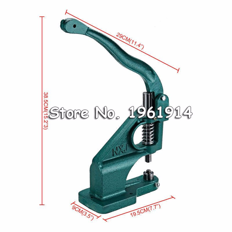 Fast Shipping ! Industrial Grommet Button Machine Maker Eyelet Hand Press Presser Punch Tool For Banner Bags Shoes