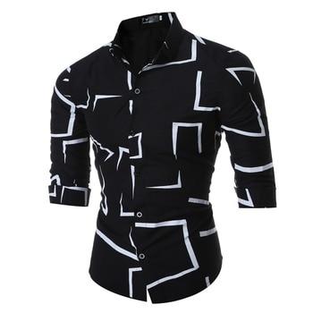 High Quality Men Casual long sleeve shirt