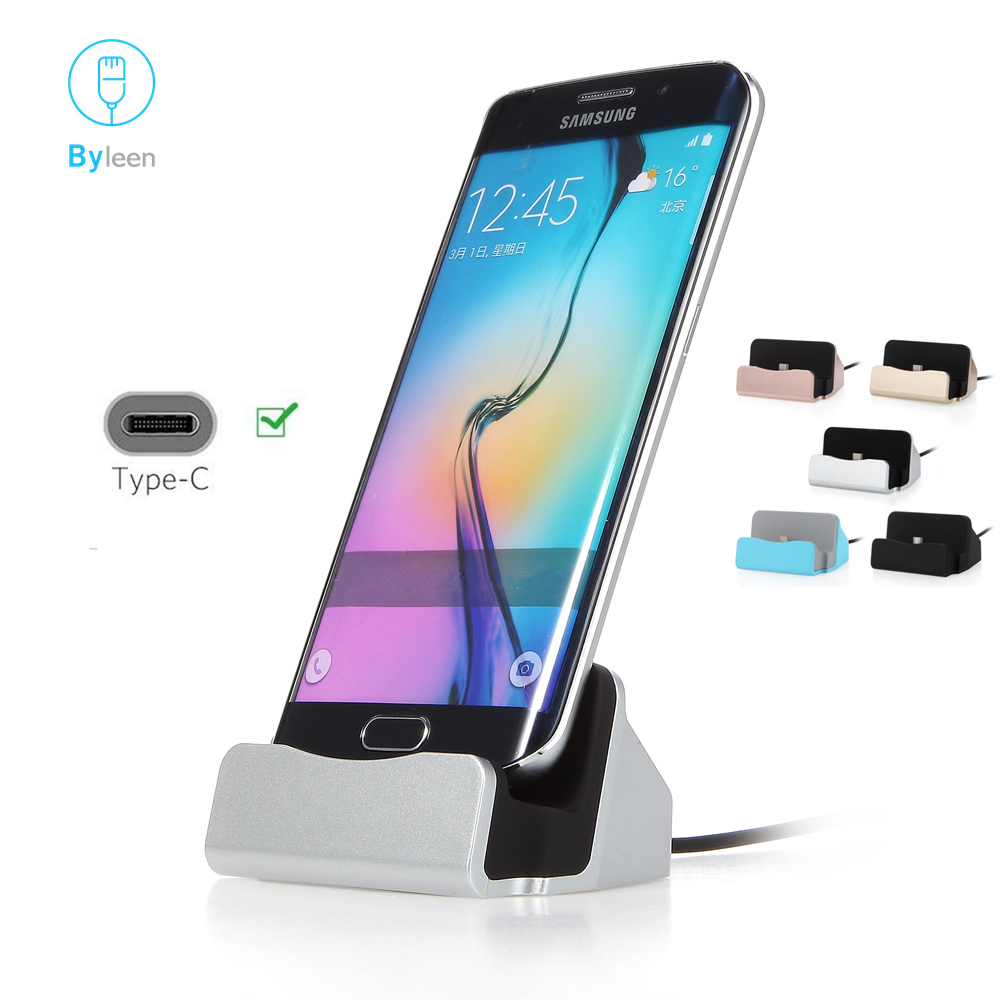 Byleen USB Cable Sync Cradle Charger For Xiaomi Mi9 Mi 8 A2 Lite 6x Redmi Note 7 Type C Stand Holder Charging Base Dock Station