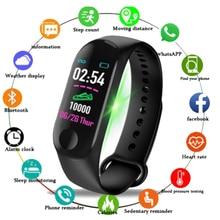 цена на M3 Plus Smart Bracelet Waterproof Heart Rate Blood Pressure Health Smart Watch M3 Plus Bluetooth Watch Wristband Fitness Tracker