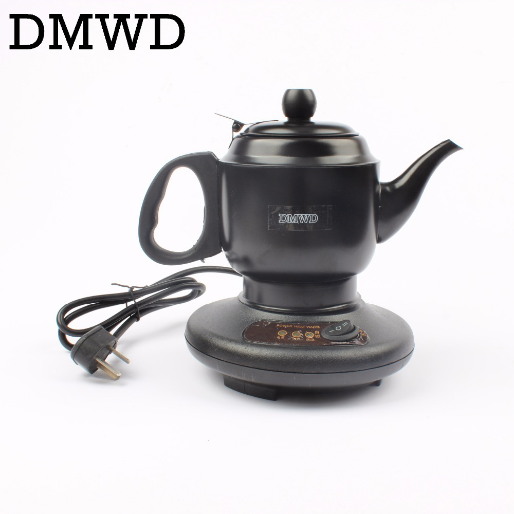 DMWD Stainless steel Thermal insulation electric kettle teapot 0.6L 450W automatic hot water heating boiler tea pot EU US plug 220v 600w 1 2l portable multi cooker mini electric hot pot stainless steel inner electric cooker with steam lattice for students