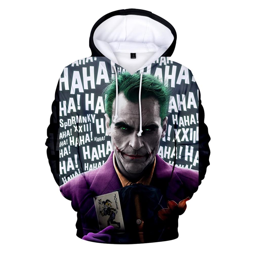 3D Joker New Clothes 3D Warm And Comfortable Hoodies Print  Long Sleeve Women/men  2019 Tops Hot Sale Casual Hoodies Plus Size