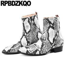 f831359e Zapatos de hombre otoño elegantes botas de cuero de grano completo de lujo  gruesas de talla grande botines de otoño puntiagudos .