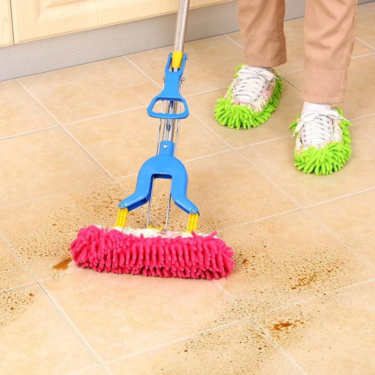 5 Farbe Chenille Hausschuhe Wiederverwendbare Sweep Dust Mop - Haushaltswaren - Foto 2