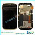 for HTC Desire X Desire V T328E T328W LCD display screen with touch screen digitizer with frame assembly full set,Good Quality