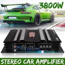 3800 ватт 2 канальный мощный усилитель звука для автомобиля басовый усилитель Алюминий 12 в усилитель DC сабвуфер автомобильные усилители