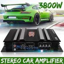 3800 Watt 2 Channel Powerful Car Audio Amplifier Bass AMP Aluminum 12V DC Amplifiers Subwoofer Car Amplifiers(China)