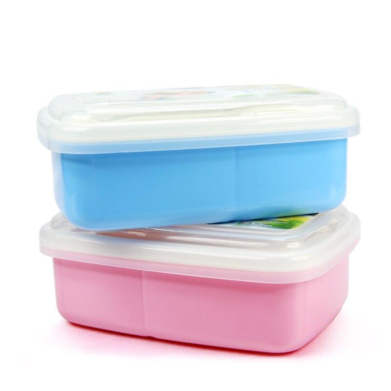 Детские блюда контейнер для ланча ПП материала BPA бесплатно для кормления детей мисочка с ложкой Вилка портативный школы Bento Kids Детская посу...