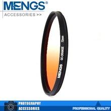 MENGS 72mm Graduated ORANGE Lens Filter With Aluminum Frame For Digital And DSLR Camera(14160013501)