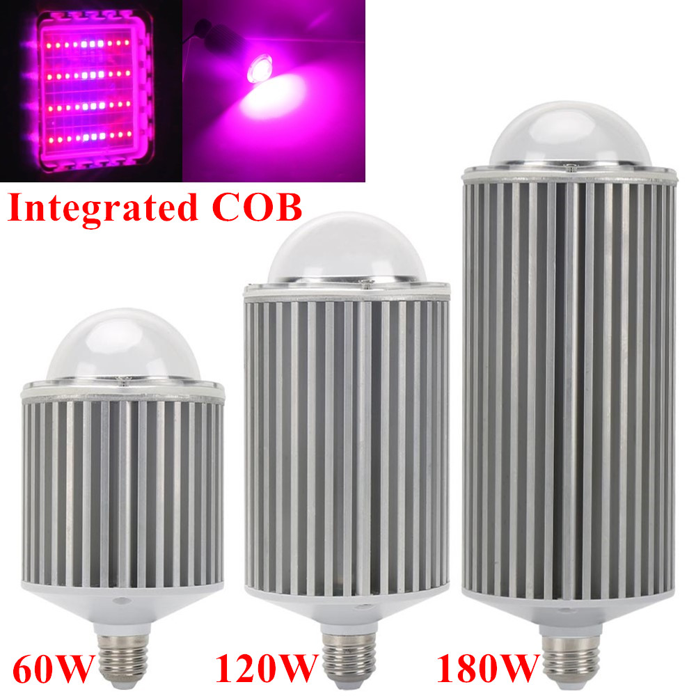 180W 120W 60W E27 Full Spectrum COB Led Grow Lights For Hydroponics Cultivation Flowers Medical Indoor Plants Grow Tent Lighting