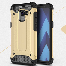 1000pcs Shockproof Armor Hybrid Rugged Hard PC+TPU Case For Samsung A9 A6 A8 Plus 2018 A3 A5 A7 Case Tough Anti-knock Cover