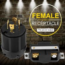 4 Pin NEMA L14-30 Generator Plug RV AC 125V-250V 30A Plug & Socket Male&Female Receptacle Set Female Receptacle Generator Socket casio edifice ef 328d 1a