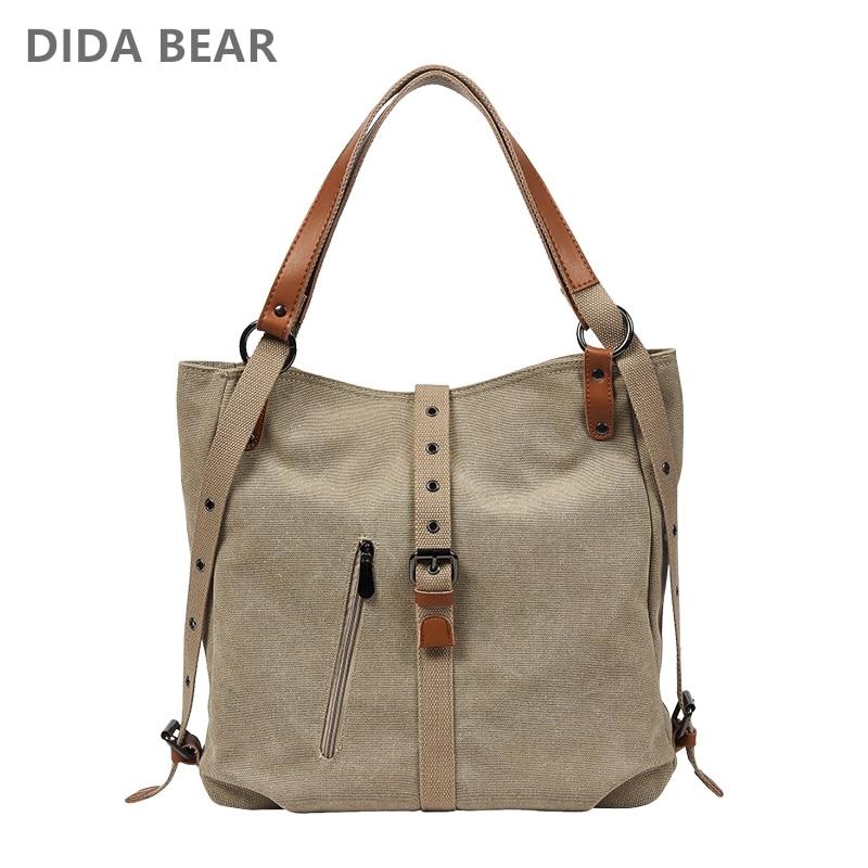 DIDABEAR Brand Canvas Tote Bag Women Handbags Female Designer Large Capacity Leisure Shoulder Bags Big Travel Bags Bolsas