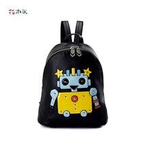 Классический мультфильм Ева рюкзак женский Искусственная кожа Рюкзаки опрятный Школьные сумки рюкзак для Обувь для девочек подростков Эсколар сумка A1