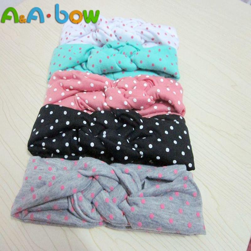 1PCS 5Colors Soft Girl Kids Cross Hairband Turban Knitted Knot Headband Headwear Hair Bands Hair Accessories