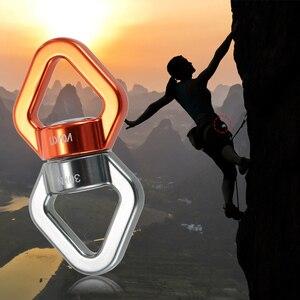 Image 5 - Lixada Seil Swivel 30kN Seil Swivel Anschluss Seil Swivel Versiegelt Lager Rettungs Klettern Seil Wirbel Fitness Ausrüstung