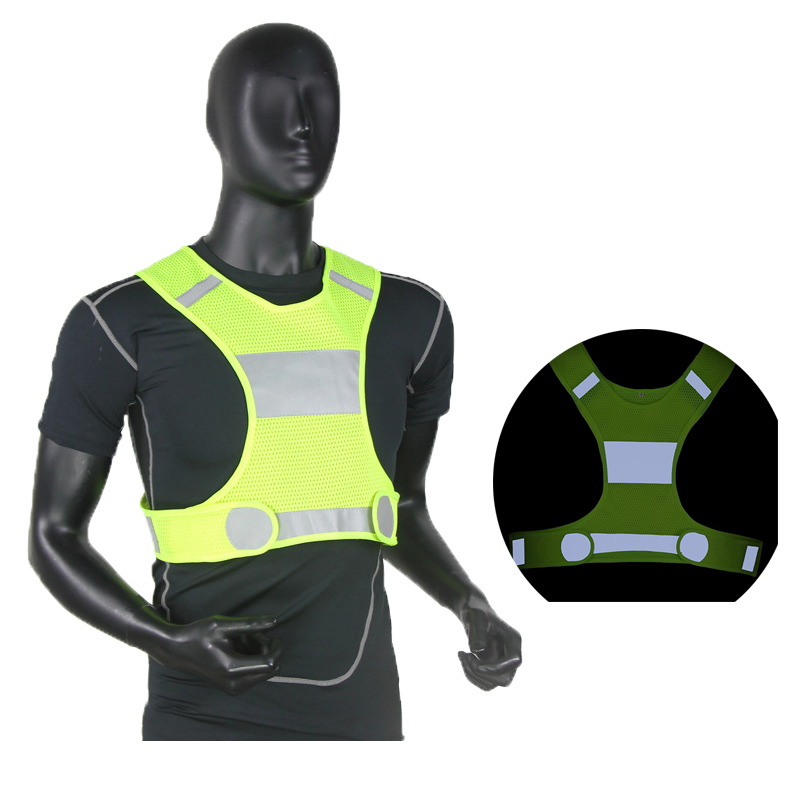 Safety Vest  Reflective Vest Outdoor Running Adjustable Safety Security High Visibility Reflective Working Clothes Night CyclingSafety Vest  Reflective Vest Outdoor Running Adjustable Safety Security High Visibility Reflective Working Clothes Night Cycling