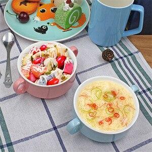 Миска для супа с ручкой, 300 мл, чашки для супа с микроwaveable, керамические чашки для кофе, чая, молока, хороший подарок