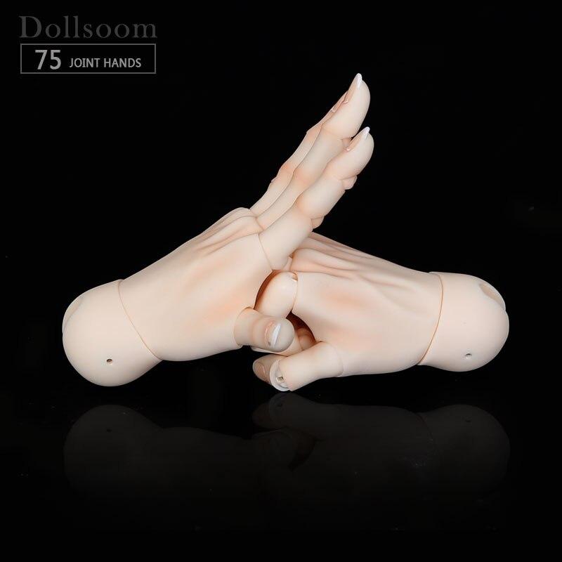 BJD mains articulées adaptées pour 1/3 ou 1/4 bjd poupée garçon et fille corps IOS IP ID72 R72 Sd17 DS SD Feeple