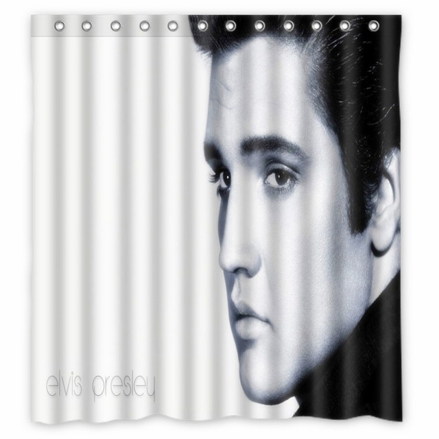 Vixm Home Elvis Presley Super Shower Curtain TV Sports Figures Bathroom Curtains With Hooks 66x72 Inch