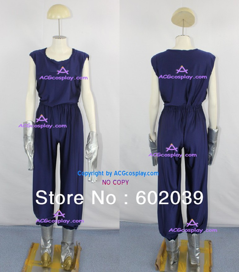 Dragon Ball Z vegeta super sayian vegeta cosplay costume include faux leather boots cover and gloves